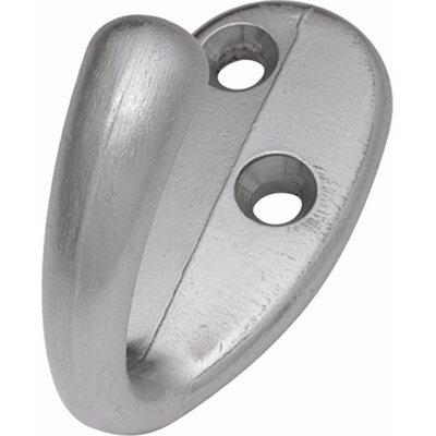 Kemper Traditional Wall Mounted Hook Finish: Satin Silver Cloud