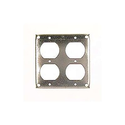 "4"" Square 2 Duplex Receptacles Box Cover"
