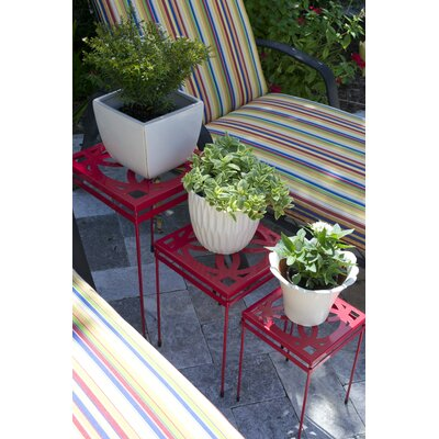Carn Nesting Plant Stand Color: Red