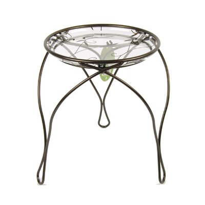 """Danielson Plant Stand Size: 13"""" H x 12.75"""" W x 12.75"""" D, Color: Dark Bronze"""