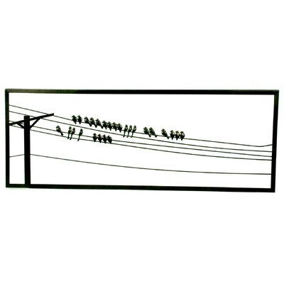 Plastec Birds on a Wire Framed Graphic Art