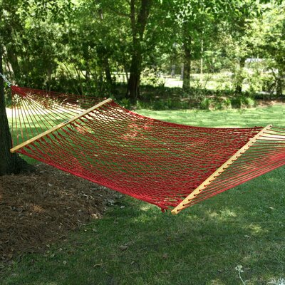 "Edmonds Large Original DuraCord Rope Tree Hammock Color: Garnet, Size: 180"" L x 55"" W"