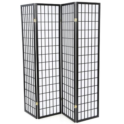 "Wildon Home ® 70.25"" x 69"" Quincy Japanese Folding 4 Panel Room Divider"