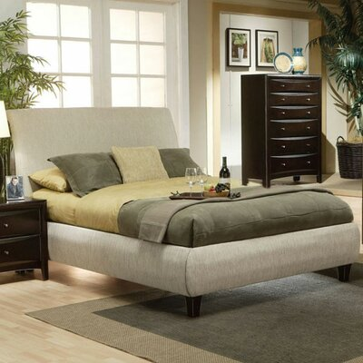 Applewood Contemporary Upholstered Bed Size: King