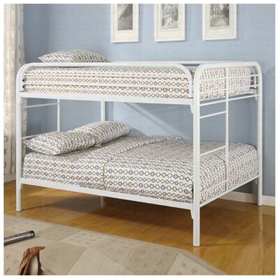 Sacramento Full over Full Bunk Bed Color: White