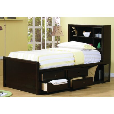 Panel Bed with Storage Size: Twin
