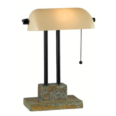 """Wildon Home ® Greenville 14.5"""" H Table Lamp with Rectangular Shade"""