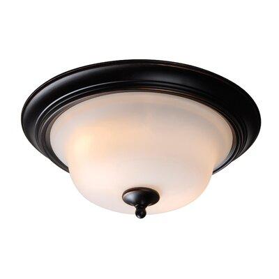 Wildon Home ® Basket 2 Light Flush Mount