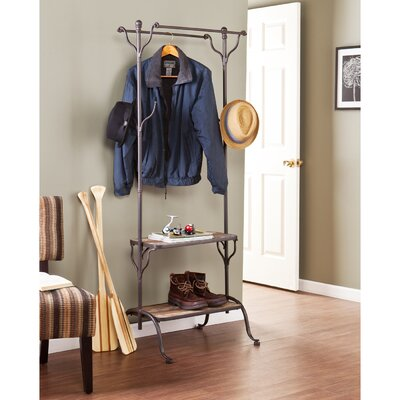 Hillwood Entryway Hall Tree with Shelf