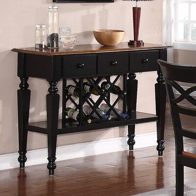 Owen Wine Bar Color: Black