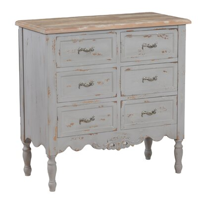 Tyler 6 Drawer Hall Chest Color: Gray