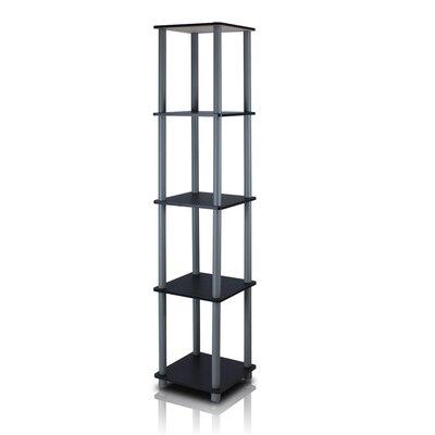 Etagere Bookcase Color: Black/Grey