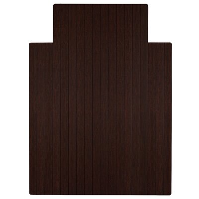 """Low Pile and Hardwood Bamboo Office Chair Mat Size: 55"""" W x 57"""" D, Color: Dark Cherry"""