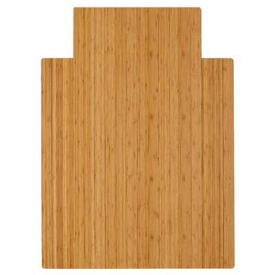 """Low Pile and Hardwood Bamboo Office Chair Mat Size: 55"""" W x 57"""" D, Color: Natural"""