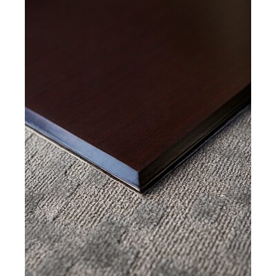 """Executive Bamboo Office Chair Mat Size: 47"""" x 51"""", Color: Dark Cherry"""