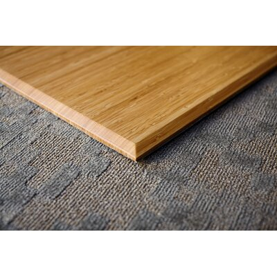 """Executive Bamboo Office Chair Mat Size: 47"""" x 51"""", Color: Natural"""