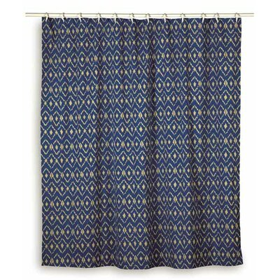 Charlee Cotton Shower Curtain Color: Blue