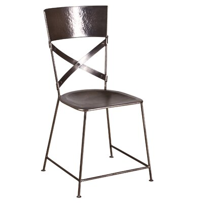 X-Back Dining Chair Finish: Antique Nickel