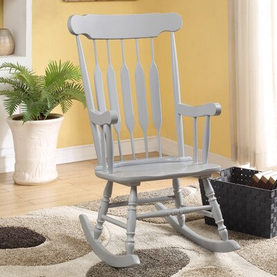 Asia Rocking Chair Frame Color: Grey