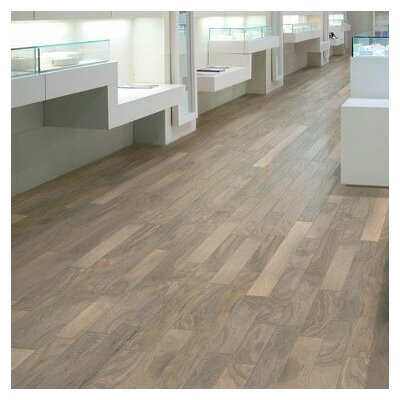 "Wildon Home ® 5"" Engineered Walnut Hardwood Flooring in Shell White"
