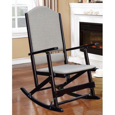 Cinthia Solid Wood Folding Rocking Chair Frame Color: Espresso