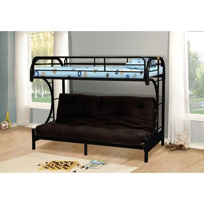 Kalen Twin over Full Futon Bunk Bed Color: Black