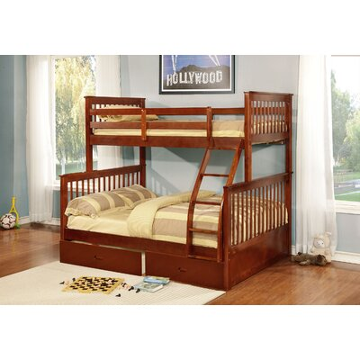 Tavian Twin over Full Bunk Bed Color: Walnut