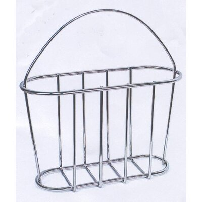 Magazine Rack with Handle Color: Chrome