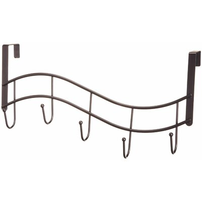 Wave with 5 J Hook Finish: Oil Rubbed Bronze