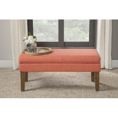 Decorative Storage Bench Upholstery: Mango Coral