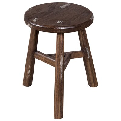 Escobar Farmhouse Accent Stool Finish: Vintage Ivory