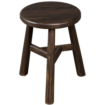 Escobar Farmhouse Accent Stool Finish: Notched Sable