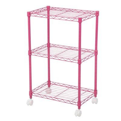 "Duvig 28"" H Three Shelf Shelving Unit Color: Pink"