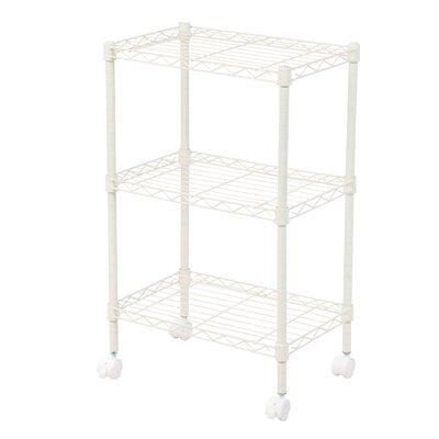 "Duvig 28"" H Three Shelf Shelving Unit Color: White"