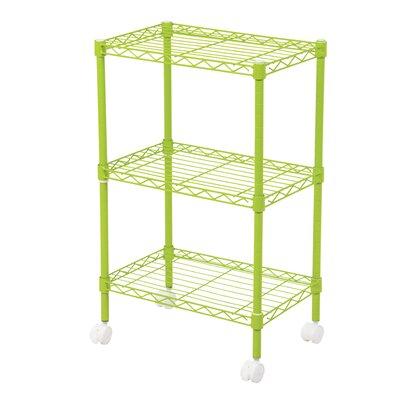 "Duvig 28"" H Three Shelf Shelving Unit Color: Green"