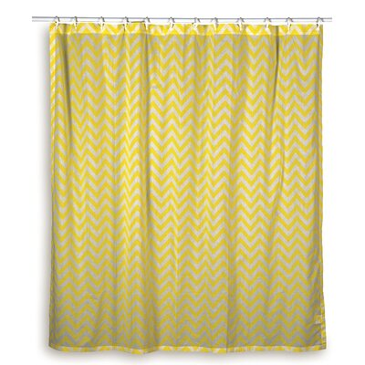 Charlean Cotton Shower Curtain Color: Yellow