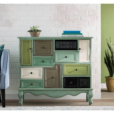 Freemanstown 9 Drawer 2 Door Accent Cabinet