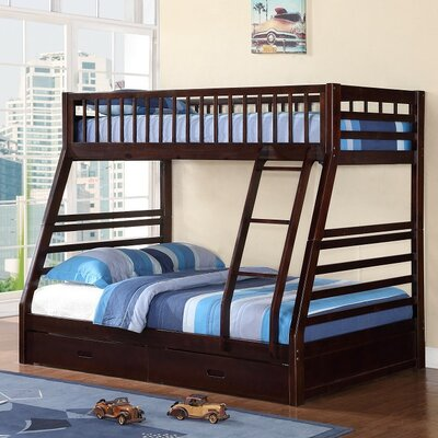 Izaiah Twin over Full Bunk Bed with Storage Color: Espresso
