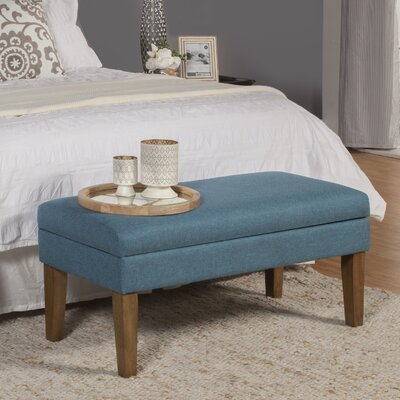 Decorative Storage Bench Upholstery: Teal