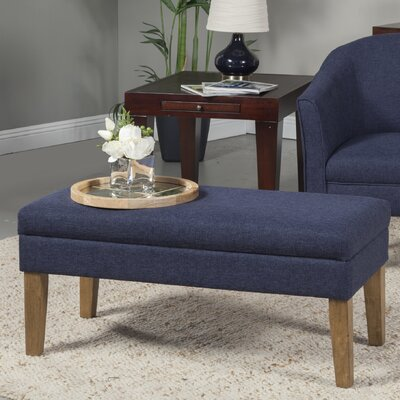 Decorative Storage Bench Upholstery: Navy