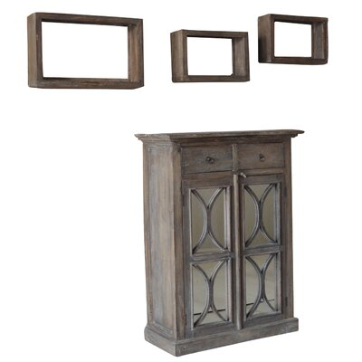 Ulster 4 Piece Accent Cabinet and Shelves Set