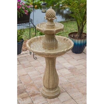 Resin Humboldt Outdoor Solar Floor Fountain