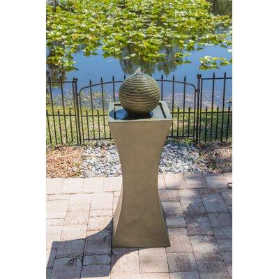 Resin Solar Barcaccia Outdoor Solar Fountain with Light
