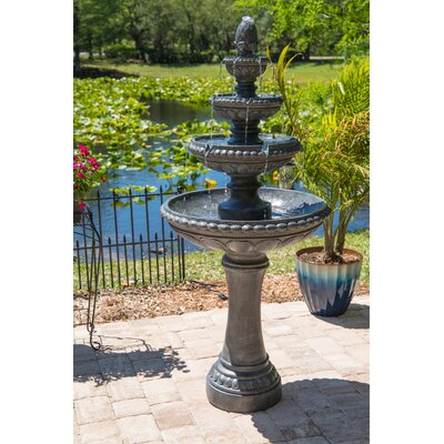 Dane Resin Outdoor Floor Fountain with Light