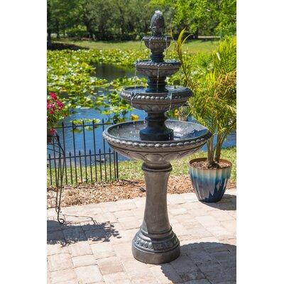 Dane Resin Outdoor Floor Fountain with Light