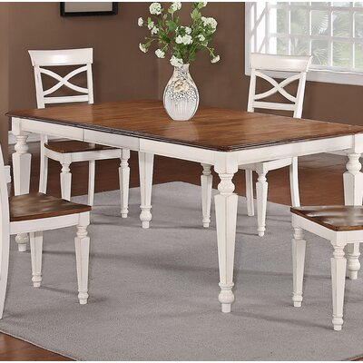 Extendable Dining Table Finish: White
