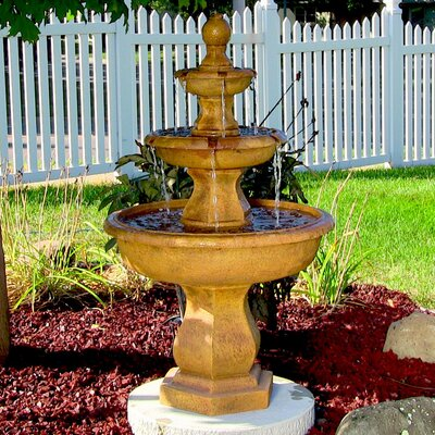 Fiberglass/Resin Tropical 3 Tier Garden Water Fountain