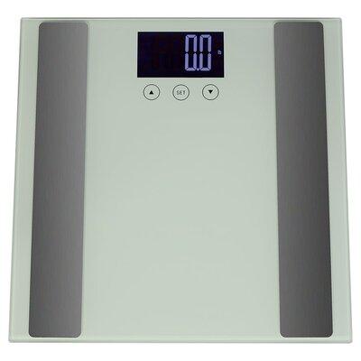 Digital Precision High-Accuracy Body Fat Bathroom Scale Color: White
