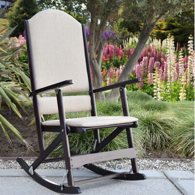 Cedar Creek Solid Wood Folding Rocking Chairs Frame Color: Espresso