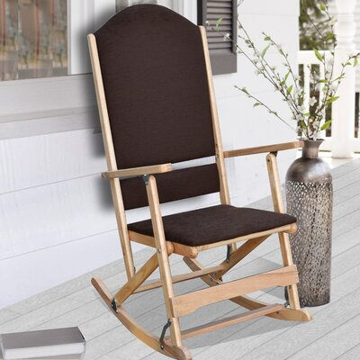 Cedar Creek Solid Wood Folding Rocking Chairs Frame Color: Natural